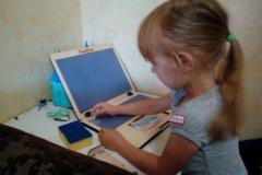 Игрушечный ноутбук у Виктории