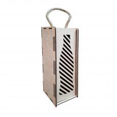 Коробка под бутылку с выдвижной крышкой